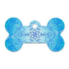 Design Winter Snowflake Decoration Dog Tag Bone (One Side)