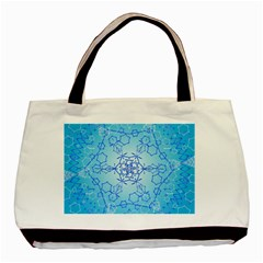 Design Winter Snowflake Decoration Basic Tote Bag (Two Sides)