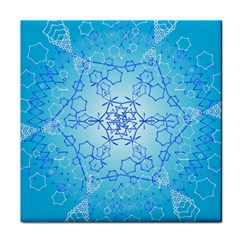 Design Winter Snowflake Decoration Face Towel