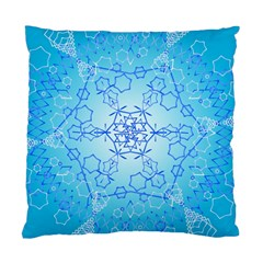 Design Winter Snowflake Decoration Standard Cushion Case (One Side)