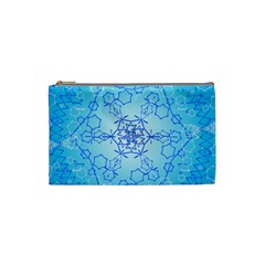 Design Winter Snowflake Decoration Cosmetic Bag (Small)