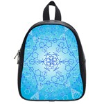 Design Winter Snowflake Decoration School Bags (Small)  Front