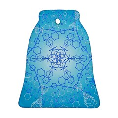 Design Winter Snowflake Decoration Bell Ornament (Two Sides)