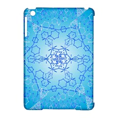 Design Winter Snowflake Decoration Apple Ipad Mini Hardshell Case (compatible With Smart Cover)