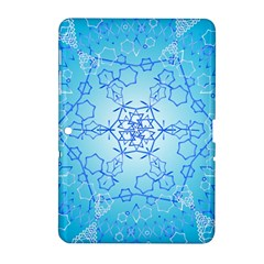 Design Winter Snowflake Decoration Samsung Galaxy Tab 2 (10 1 ) P5100 Hardshell Case