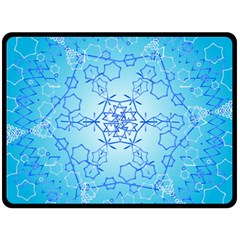 Design Winter Snowflake Decoration Double Sided Fleece Blanket (Large)