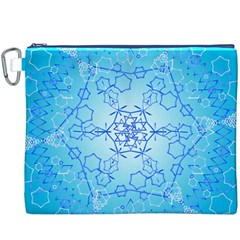 Design Winter Snowflake Decoration Canvas Cosmetic Bag (XXXL)