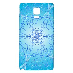 Design Winter Snowflake Decoration Galaxy Note 4 Back Case