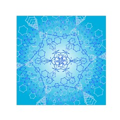 Design Winter Snowflake Decoration Small Satin Scarf (Square)