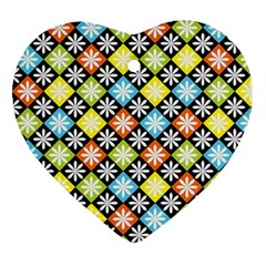 Diamonds Argyle Pattern Ornament (Heart)