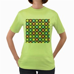 Diamonds Argyle Pattern Women s Green T-Shirt