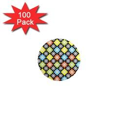 Diamonds Argyle Pattern 1  Mini Magnets (100 pack)