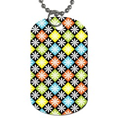 Diamonds Argyle Pattern Dog Tag (One Side)