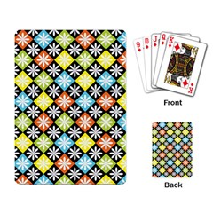 Diamonds Argyle Pattern Playing Card