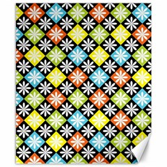Diamonds Argyle Pattern Canvas 8  X 10