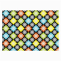 Diamonds Argyle Pattern Large Glasses Cloth