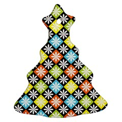 Diamonds Argyle Pattern Christmas Tree Ornament (Two Sides)