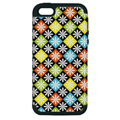 Diamonds Argyle Pattern Apple iPhone 5 Hardshell Case (PC+Silicone)