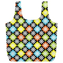 Diamonds Argyle Pattern Full Print Recycle Bags (L)