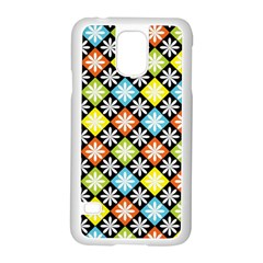Diamonds Argyle Pattern Samsung Galaxy S5 Case (White)