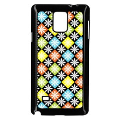 Diamonds Argyle Pattern Samsung Galaxy Note 4 Case (Black)