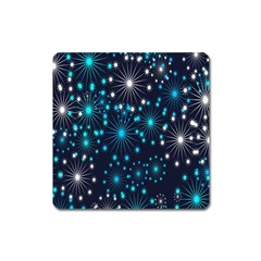 Digitally Created Snowflake Pattern Square Magnet
