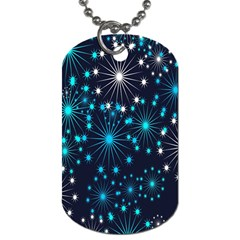 Digitally Created Snowflake Pattern Dog Tag (two Sides)