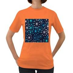 Digitally Created Snowflake Pattern Women s Dark T Shirt