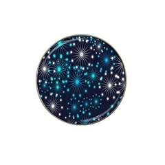Digitally Created Snowflake Pattern Hat Clip Ball Marker (10 pack)