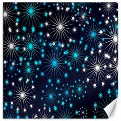 Digitally Created Snowflake Pattern Canvas 20  x 20