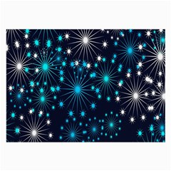 Digitally Created Snowflake Pattern Large Glasses Cloth (2-Side)