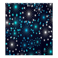 Digitally Created Snowflake Pattern Shower Curtain 66  X 72  (large)