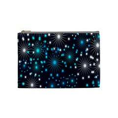 Digitally Created Snowflake Pattern Cosmetic Bag (medium)