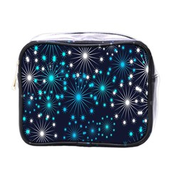Digitally Created Snowflake Pattern Mini Toiletries Bags