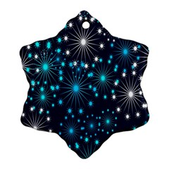 Digitally Created Snowflake Pattern Snowflake Ornament (Two Sides)