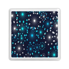 Digitally Created Snowflake Pattern Memory Card Reader (Square)