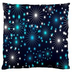 Digitally Created Snowflake Pattern Large Cushion Case (One Side)