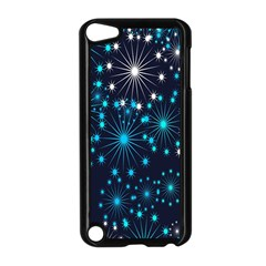 Digitally Created Snowflake Pattern Apple iPod Touch 5 Case (Black)