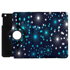 Digitally Created Snowflake Pattern Apple iPad Mini Flip 360 Case