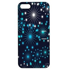 Digitally Created Snowflake Pattern Apple Iphone 5 Hardshell Case With Stand