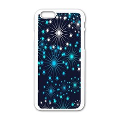 Digitally Created Snowflake Pattern Apple Iphone 6/6s White Enamel Case