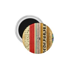 Digitally Created Collage Pattern Made Up Of Patterned Stripes 1.75  Magnets