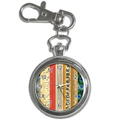Digitally Created Collage Pattern Made Up Of Patterned Stripes Key Chain Watches