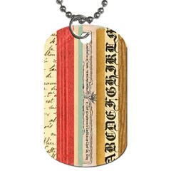Digitally Created Collage Pattern Made Up Of Patterned Stripes Dog Tag (Two Sides)