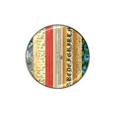 Digitally Created Collage Pattern Made Up Of Patterned Stripes Hat Clip Ball Marker (10 pack)