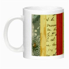 Digitally Created Collage Pattern Made Up Of Patterned Stripes Night Luminous Mugs
