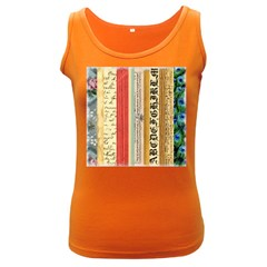 Digitally Created Collage Pattern Made Up Of Patterned Stripes Women s Dark Tank Top