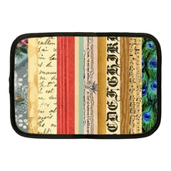 Digitally Created Collage Pattern Made Up Of Patterned Stripes Netbook Case (medium)