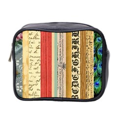 Digitally Created Collage Pattern Made Up Of Patterned Stripes Mini Toiletries Bag 2-Side