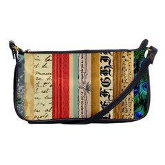 Digitally Created Collage Pattern Made Up Of Patterned Stripes Shoulder Clutch Bags